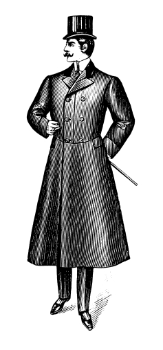 English Gentleman Style Drawing Fashion