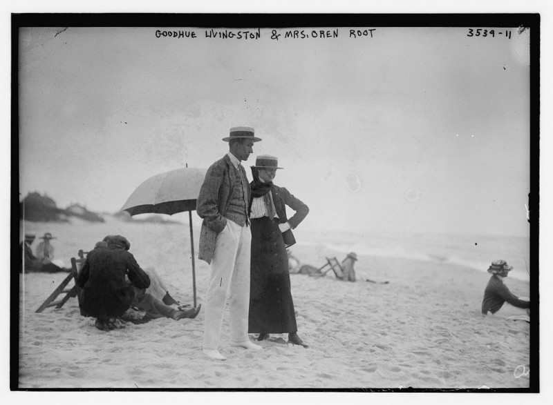 Goodhue Livingston & Mrs. Oren Root  (LOC)