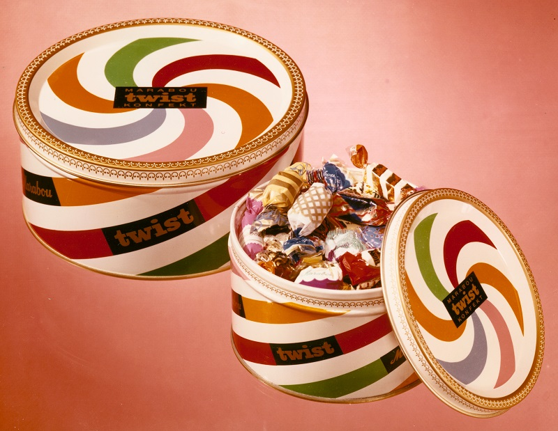 Burk med Twist-praliner, 1960