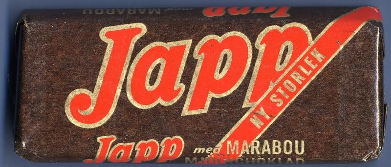 Förpackning Japp, 1949