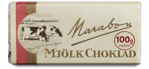 Marabou mjölkchoklad från 1940-talet.