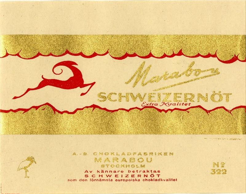 Marabou Schweizernöt från år 1935.