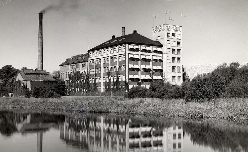 Maraboufabriken i Sundbyberg år 1929.
