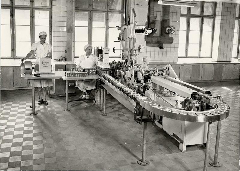 Tillverkning av Ergo Cakao 1940.