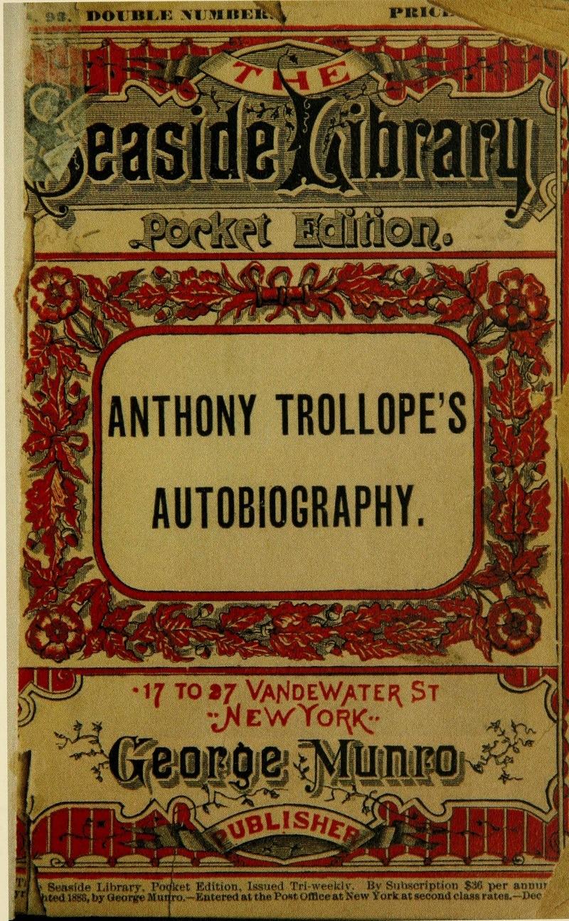 anthony trollopes biografi