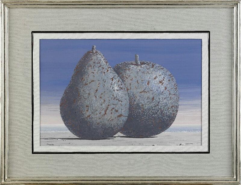 René Magrittes gouache, Souvenir de Voyage.