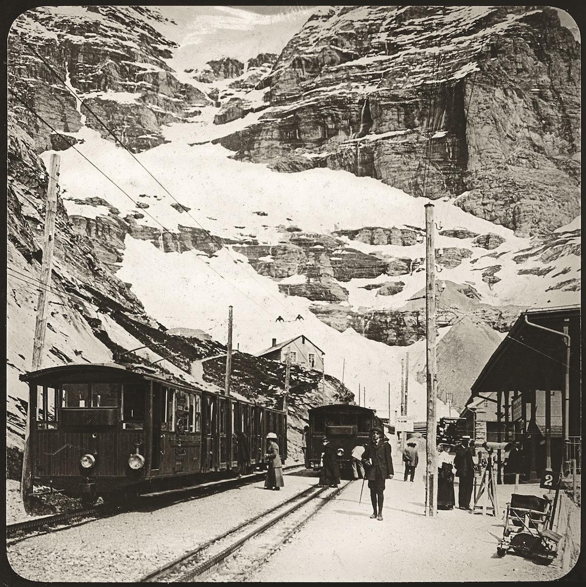 Schweiz. Eigergletscherstationen.