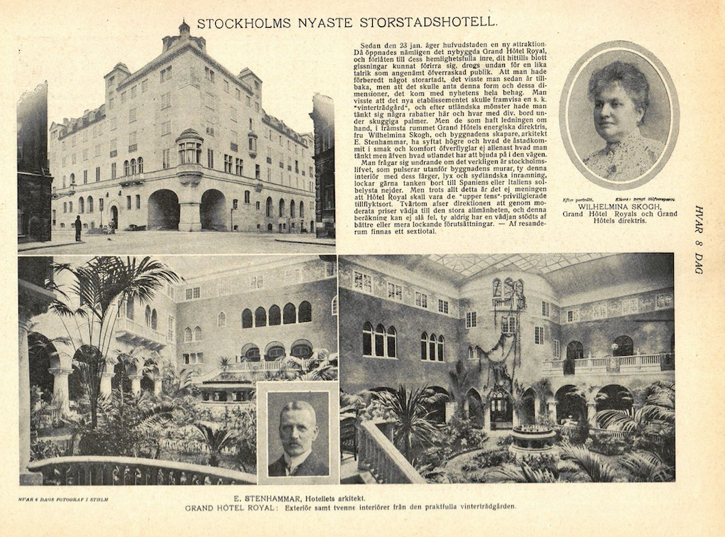 Historia vinterträdgården Grand Hotel