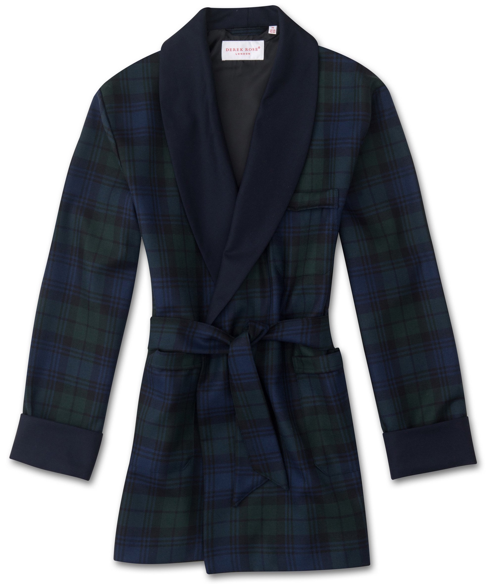 smoking jacket scottish pattern