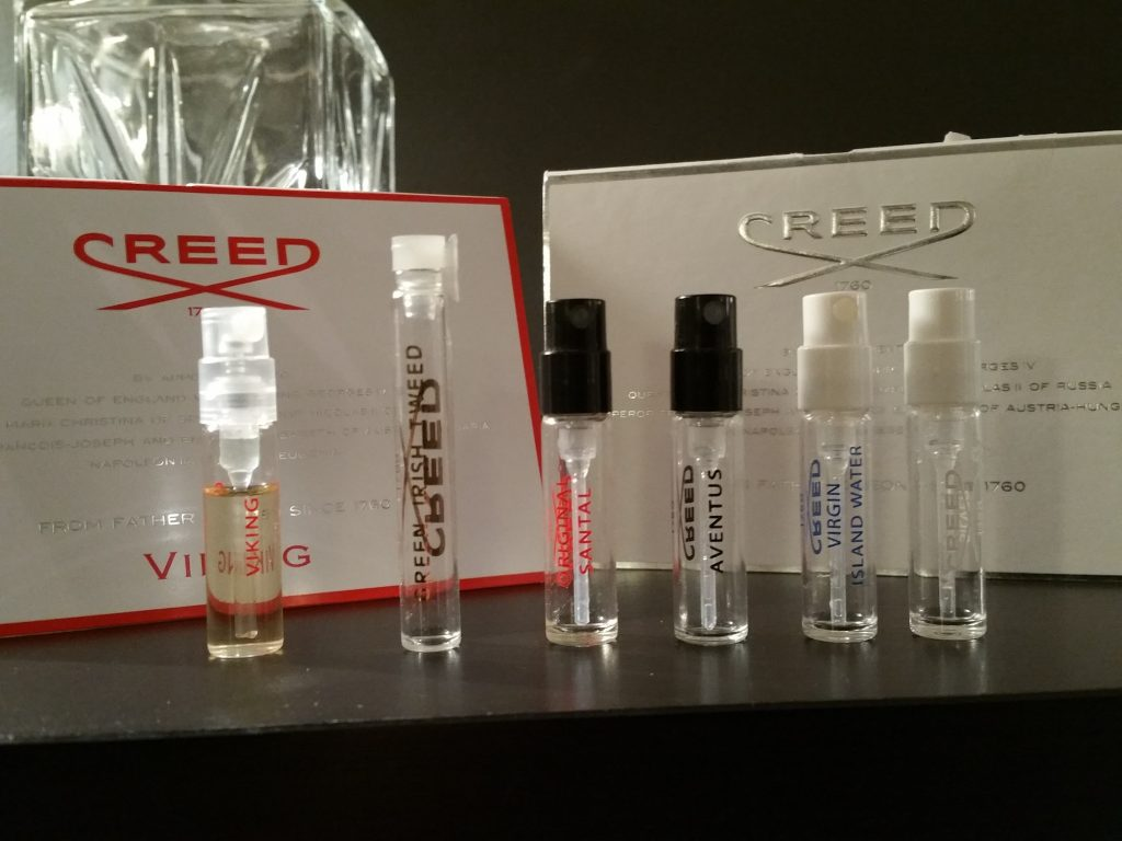 Creed samples testers produktprover