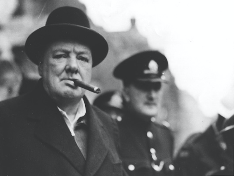 winston churchill cigarr