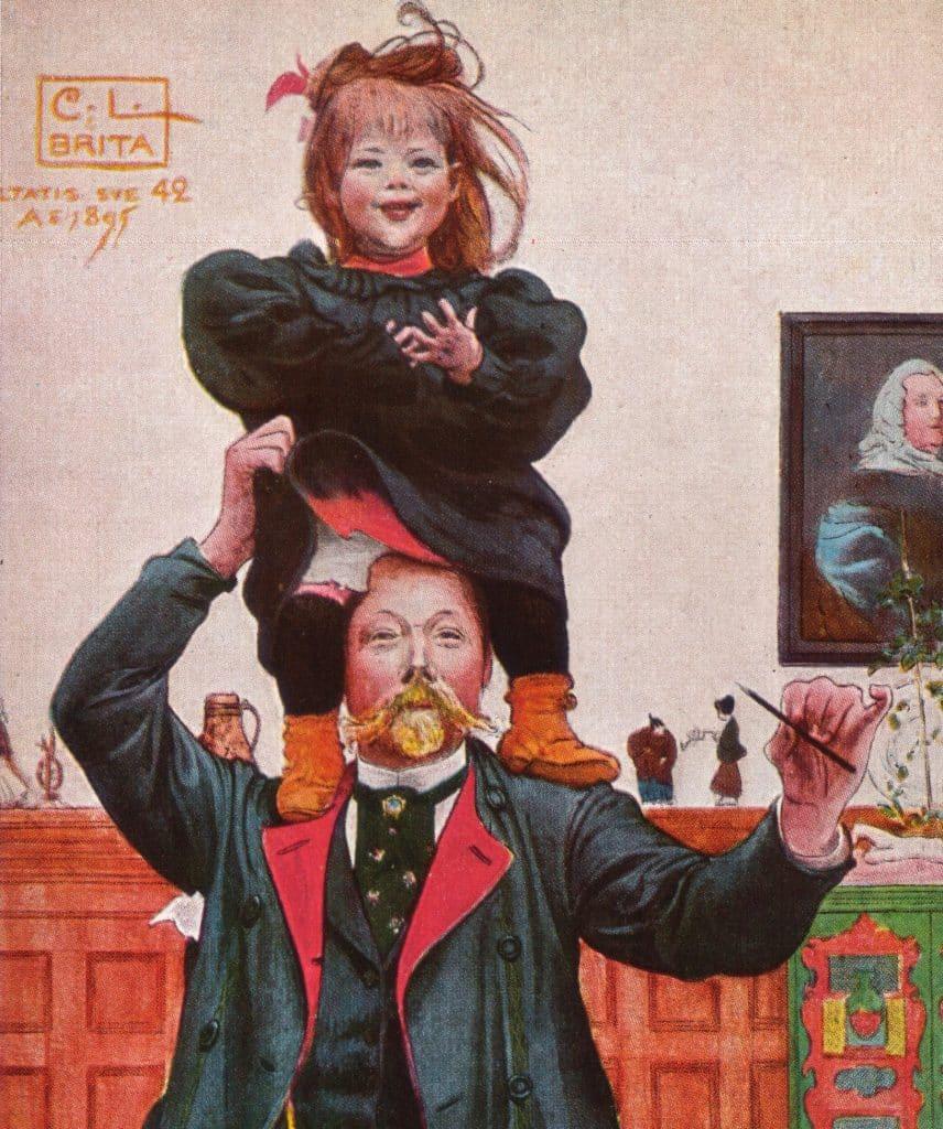 Carl Larsson självporträtt