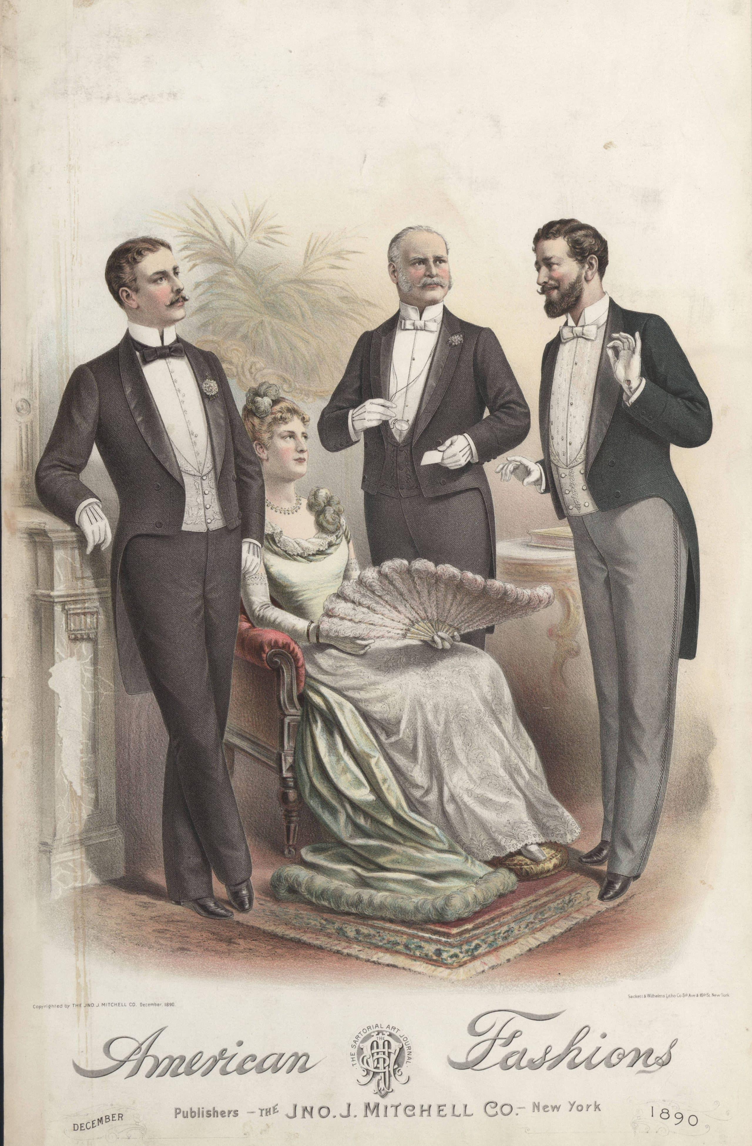 herrmode från slutet av 1800-talet