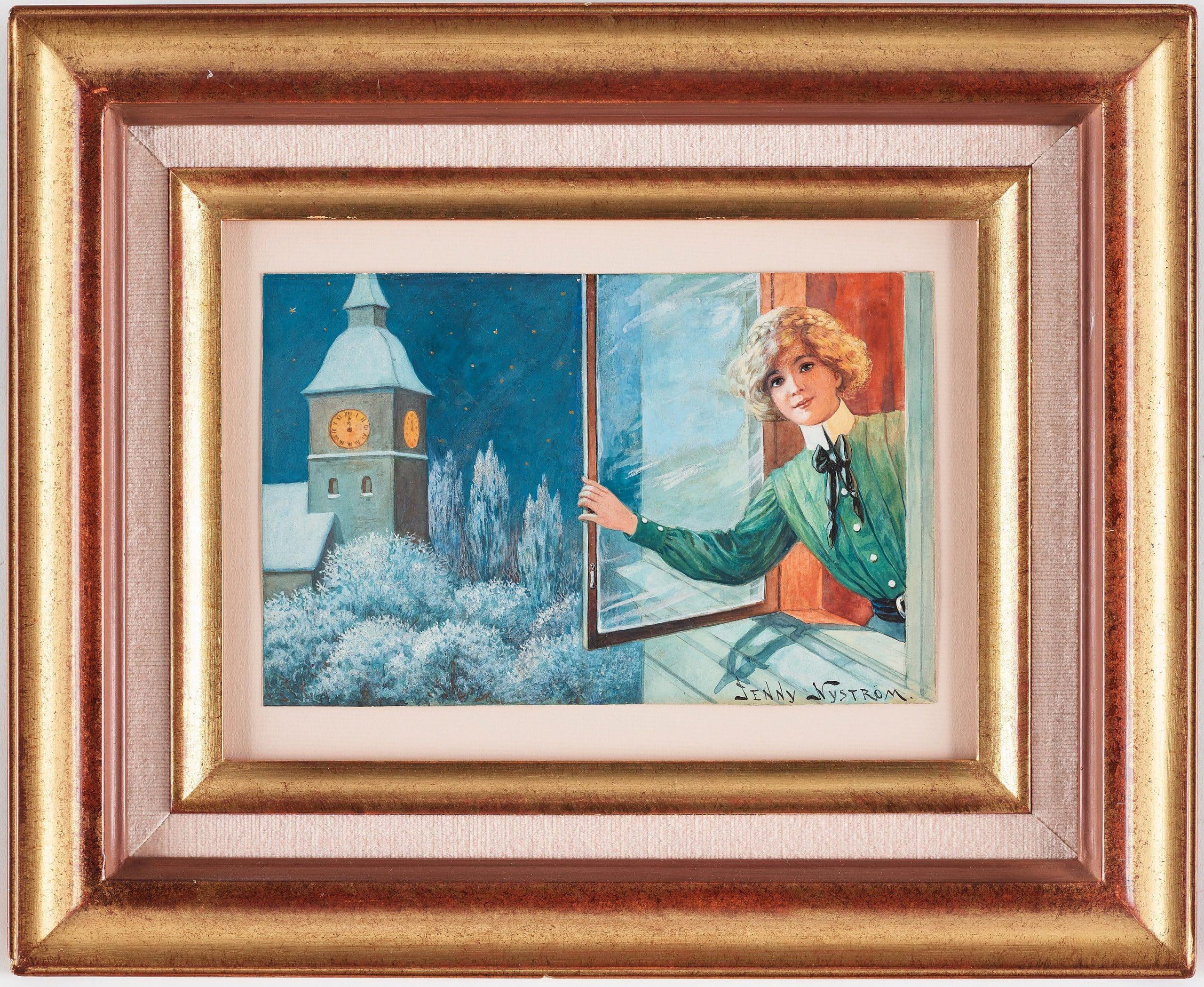 jenny nyström julmotiv målningar
