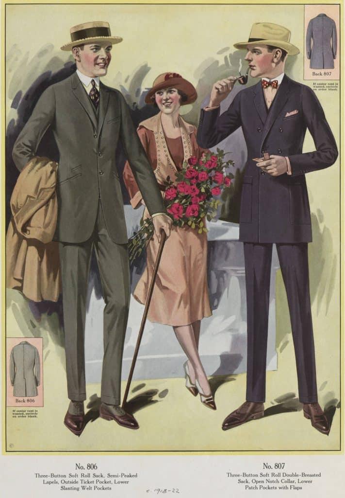 herrmodet 1920-talet