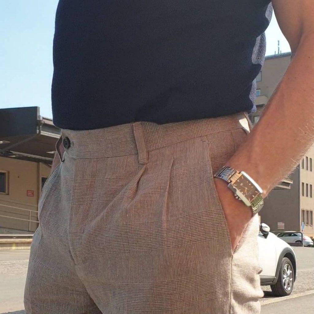 byxor med frontveck hög midja