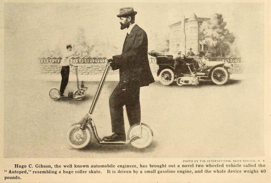 autopeder början av 1900-talet