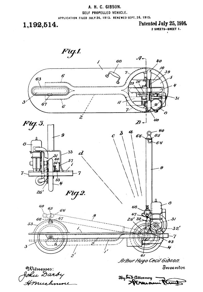 patent motordriven autoped