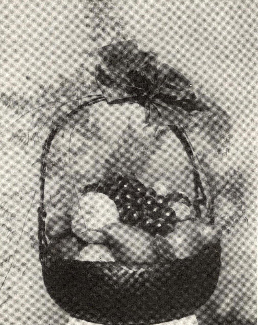 elegant fruktkorg som gåva