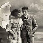 En ung herre bjuder - Restaurangetikett från 1930-talet