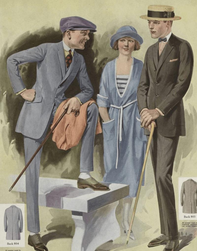 herrmode 1920-tal käpp