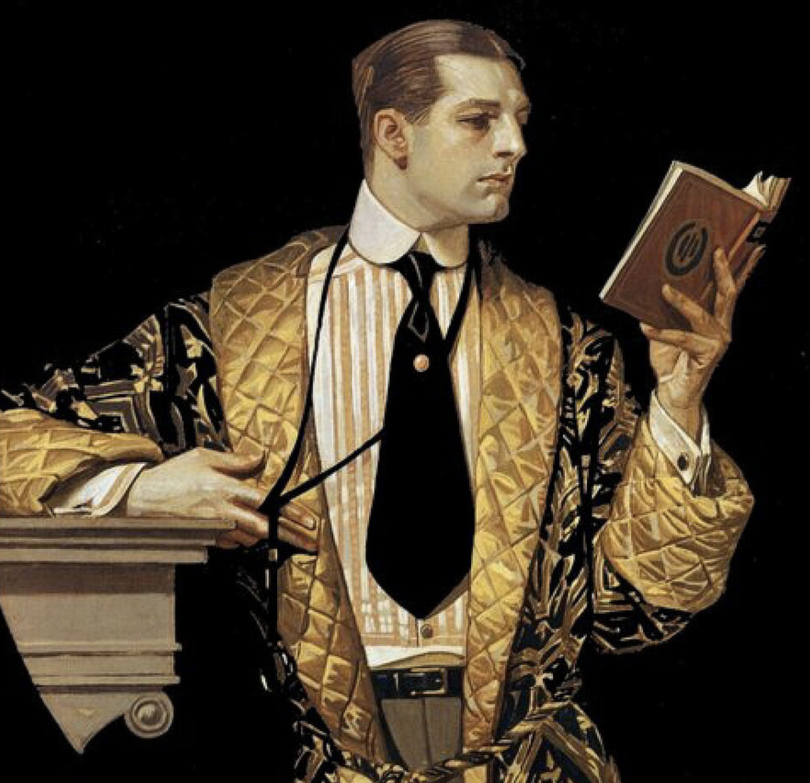 leyendecker velvet smoking jacket