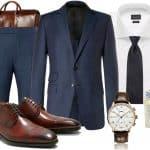 Inspiration: Den klassiska blå kostymen