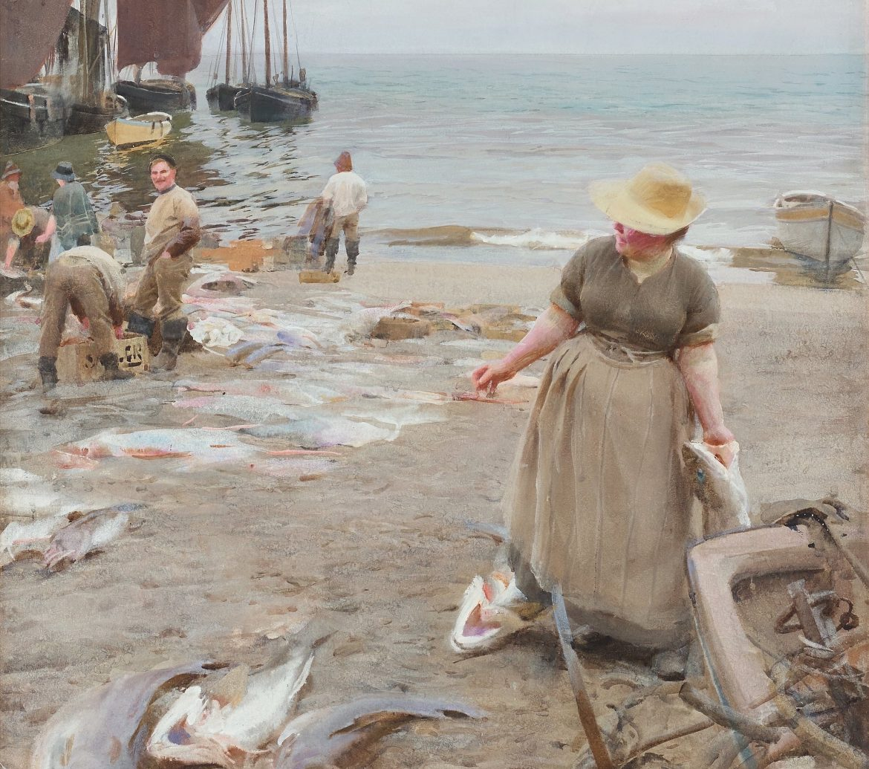 Anders Zorn fiskmarknad i St Ives