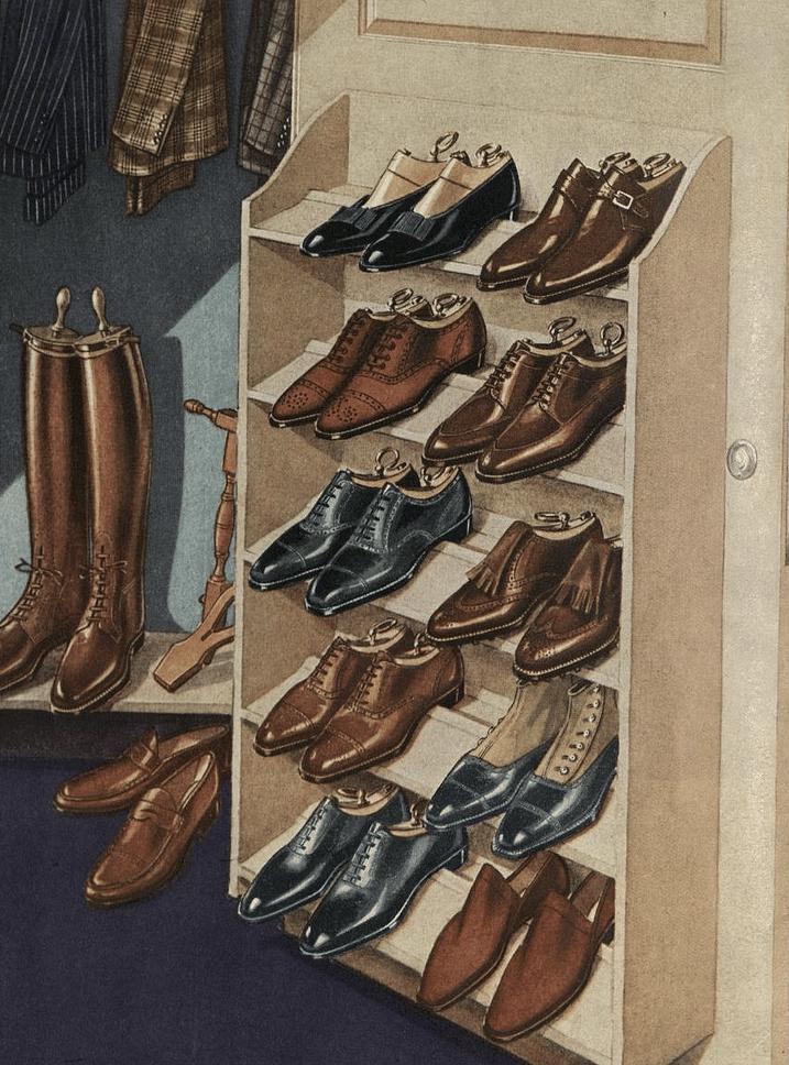skor för mannen
