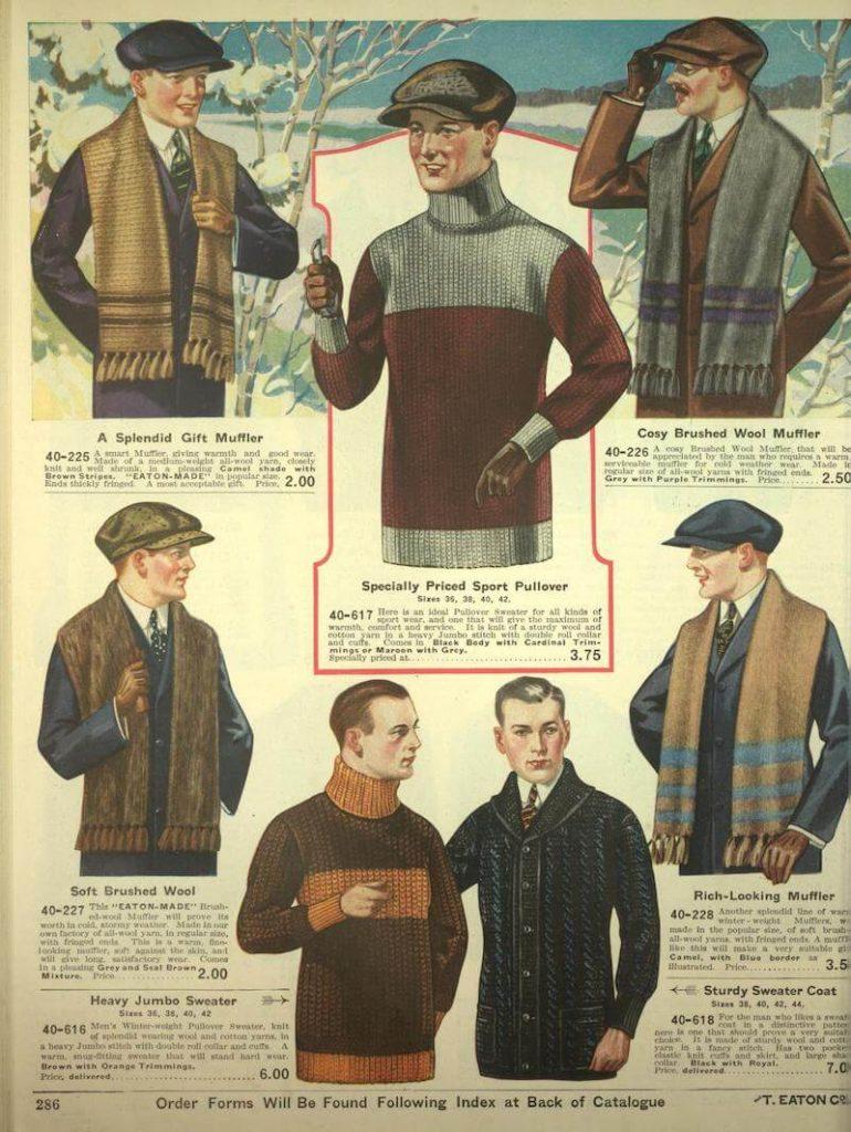 snygga stickade klädesplagg för män