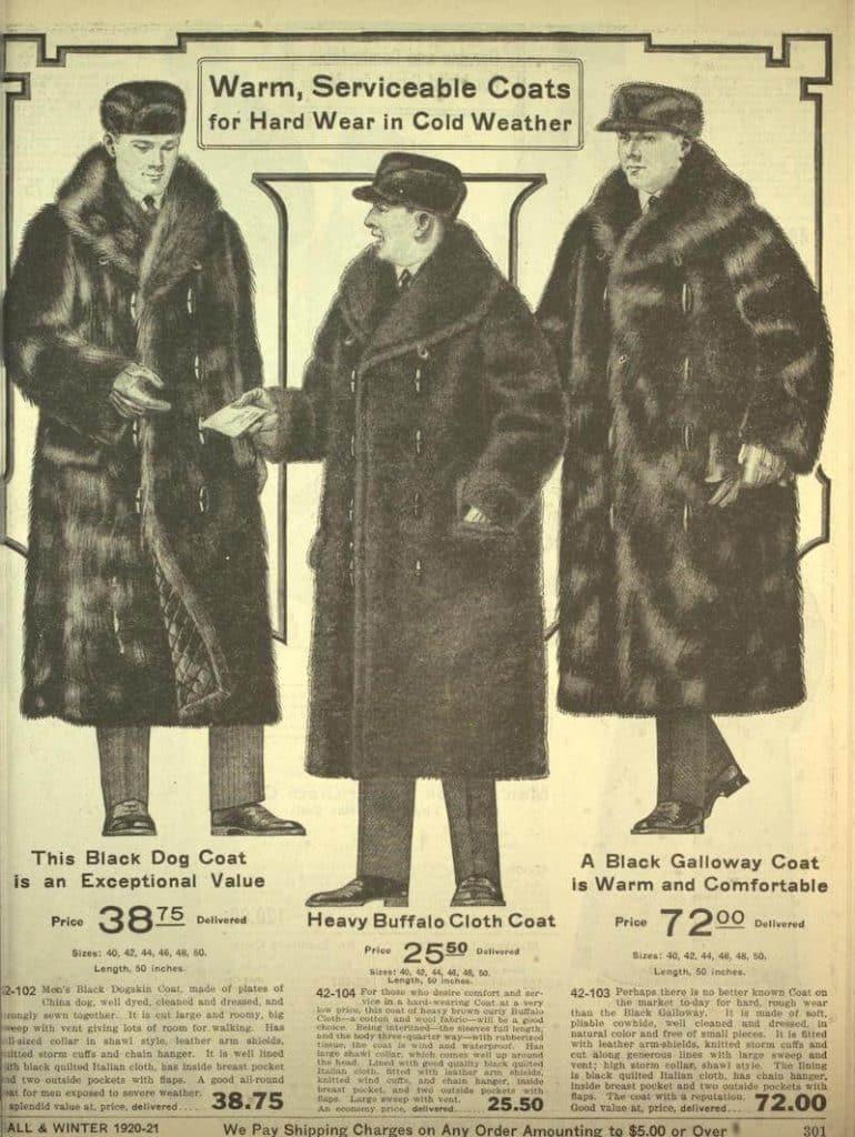 rockar i päls 1920-talets mode för män