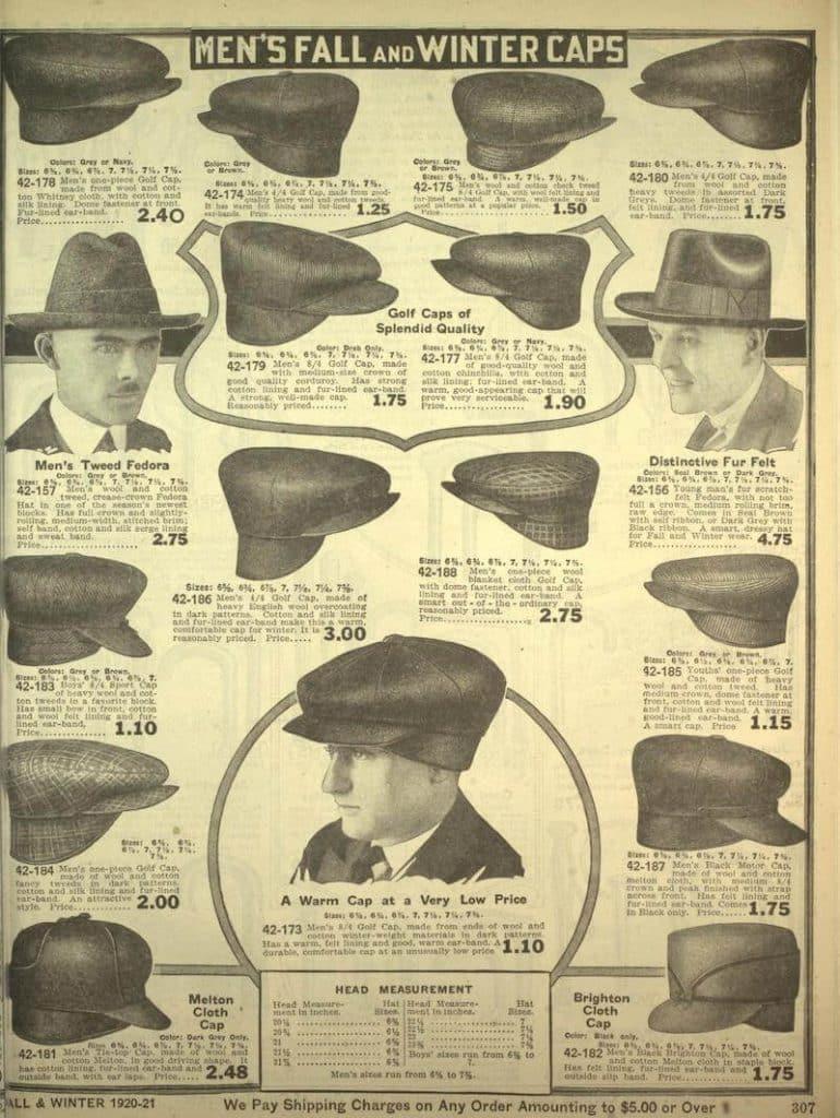 hattmode på 1920-talet mode för män