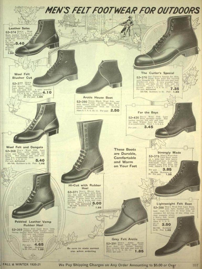 kängor för män herrmode 1920-talet