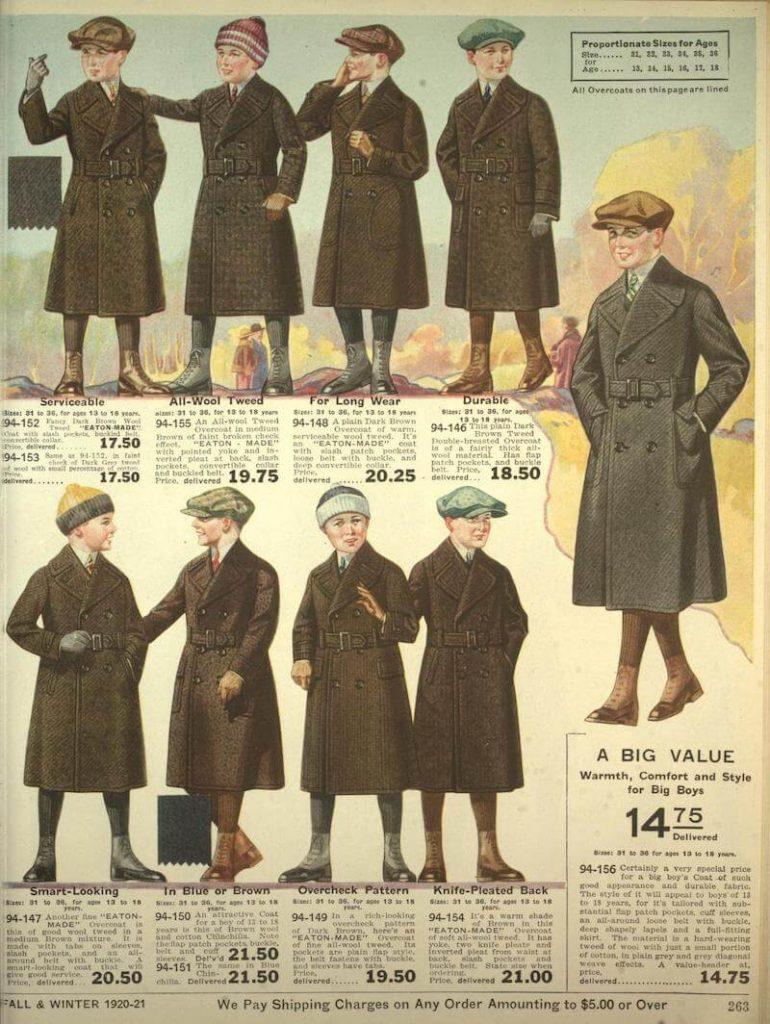 mode för pojkar 1920-talet