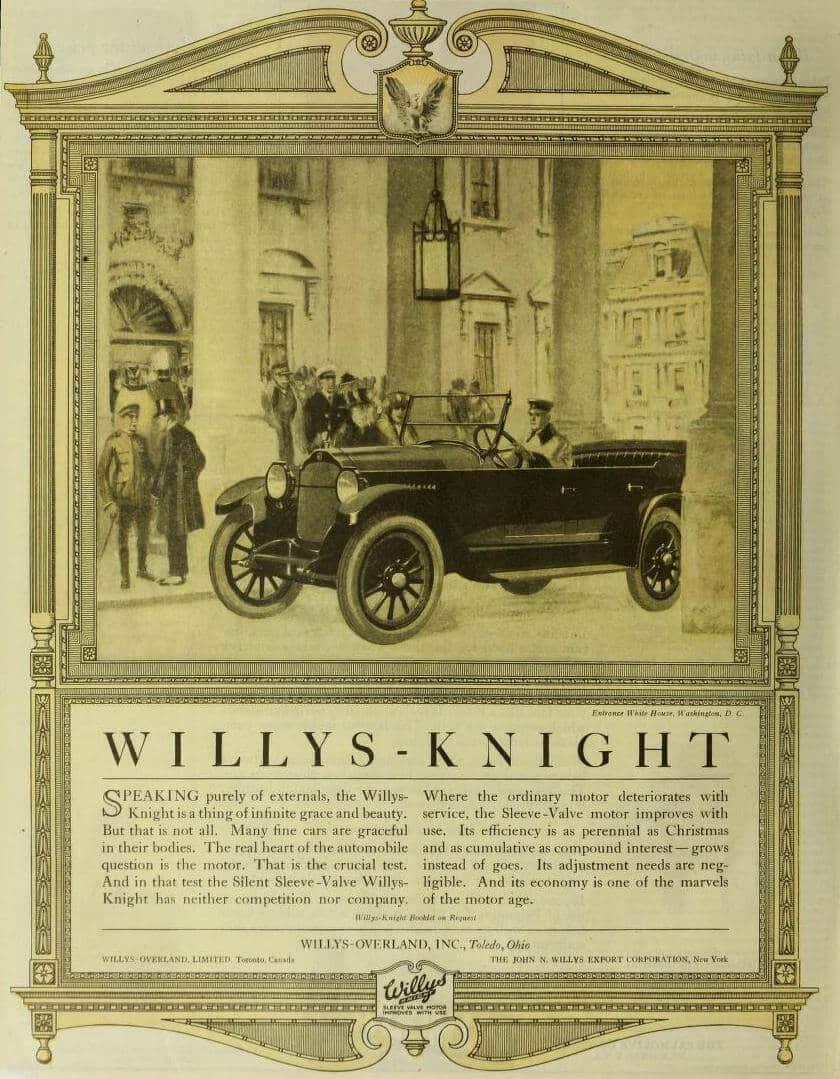 willys knight klassiska amerikanska bilar