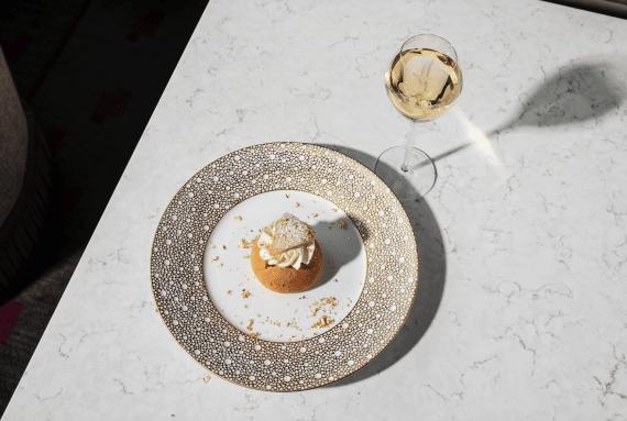champagnesemla på grand hotel
