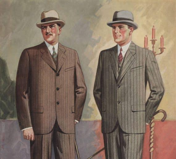 herrmode från salongen 1920-talet