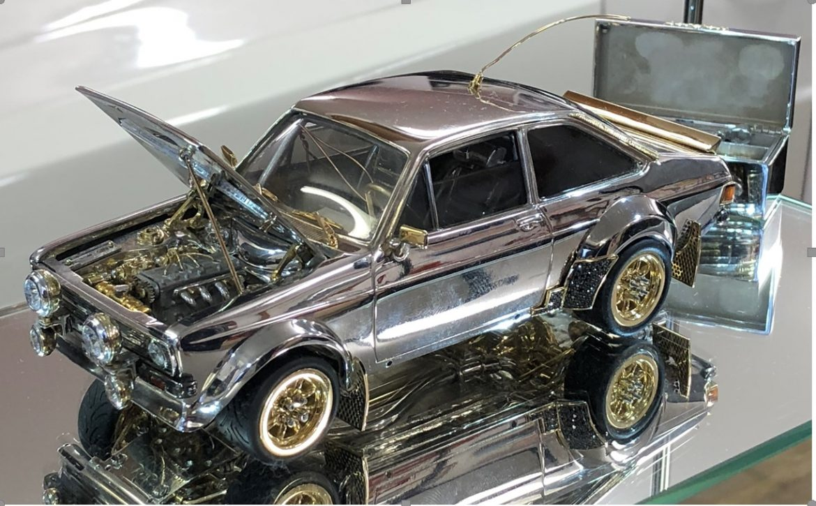 Classic Ford Escort Made of Gold, Diamonds and Silver