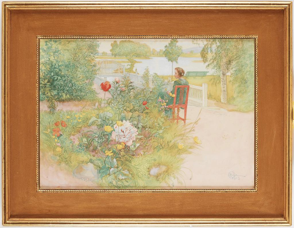 """""""Sommar i Sundborn"""" / """"Flicka i trädgård"""" med ett utrop 3 000 000 - 3 500 000 SEK"""