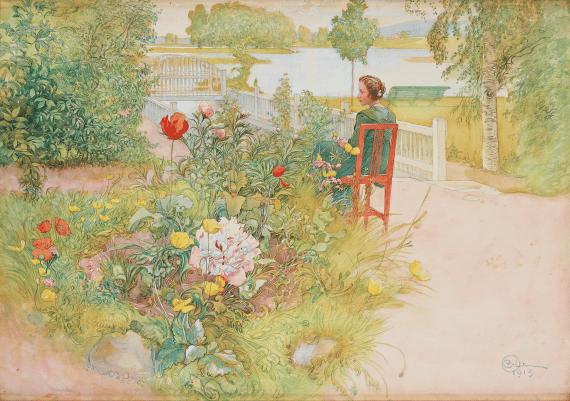 carl larsson målning flicka