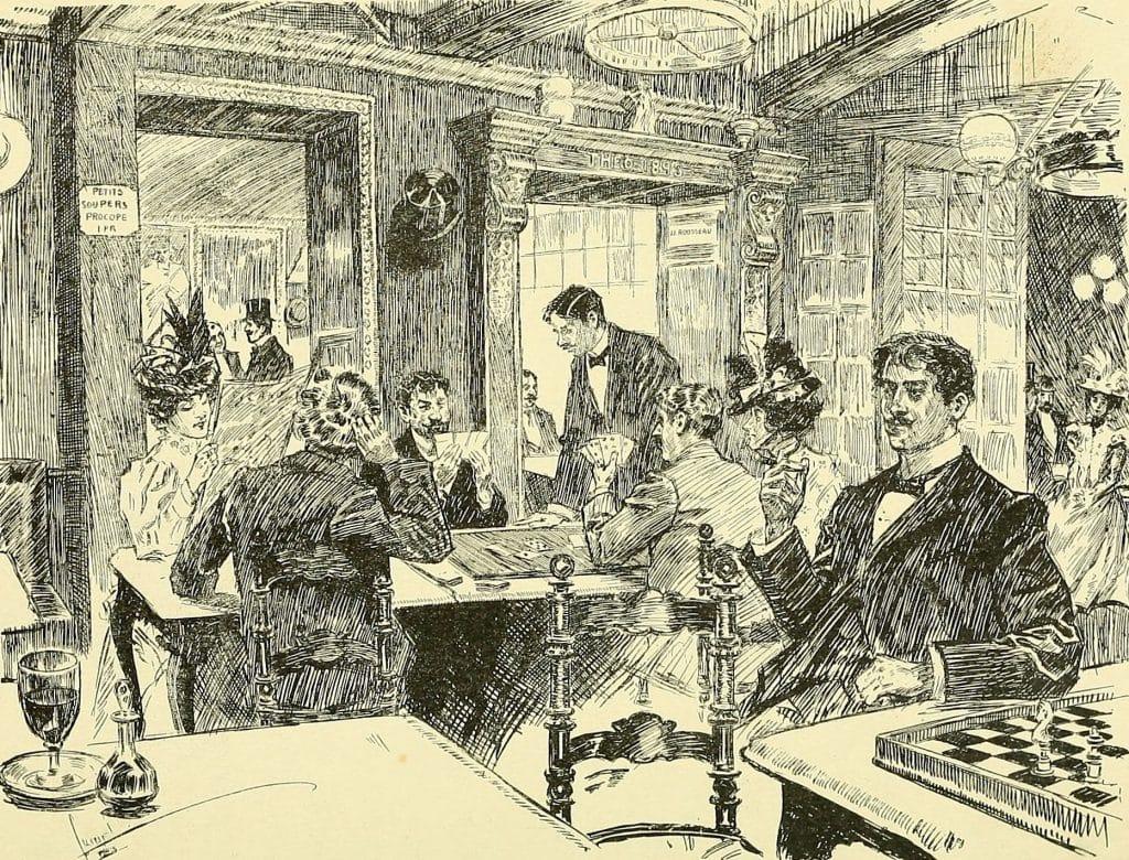 kaffehus i paris början av 1900-talet