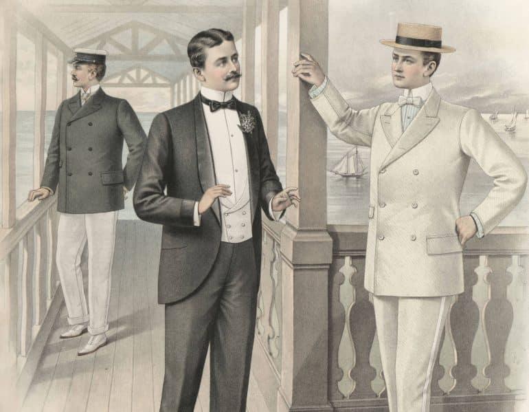rätt klädd för yachtklubben