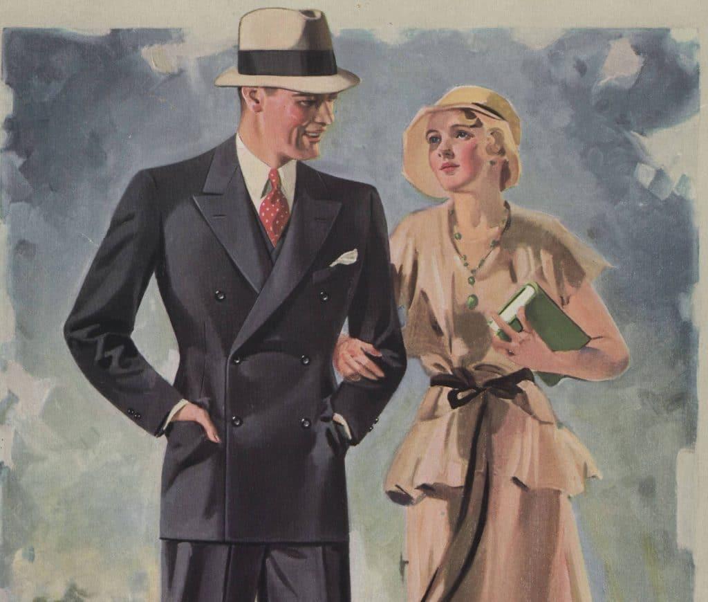stiliga män från 1930-talet
