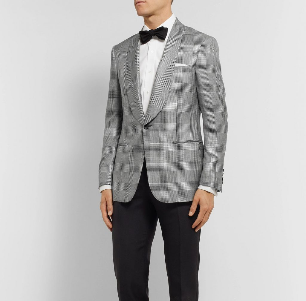 Prince of Wales check dinner jacket