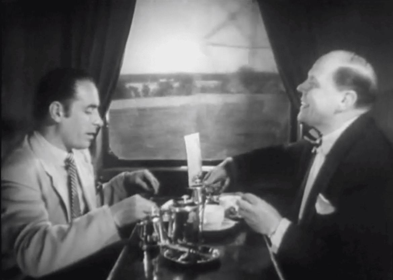 reklam för tågresor 1954