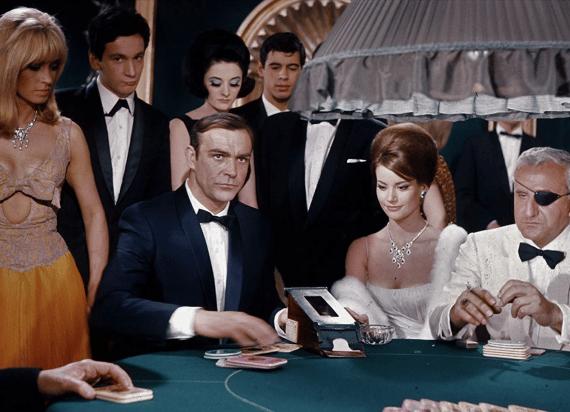 vilka spel spelar James Bond på casinon