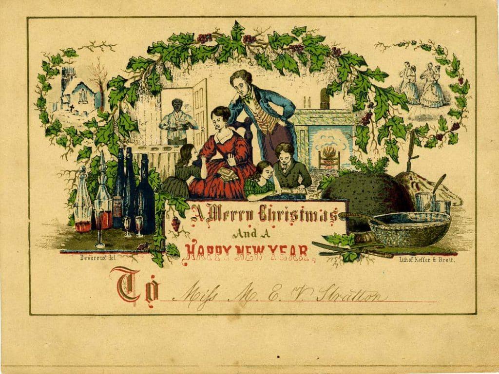 de första julkorten i världen
