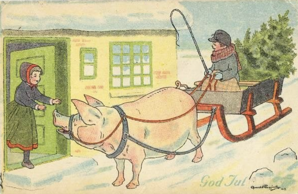danskt julkort 1919