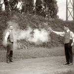 Test av skottsäkerhet från början av 1900-talet