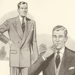 1950-talets herrmode i illustrationer